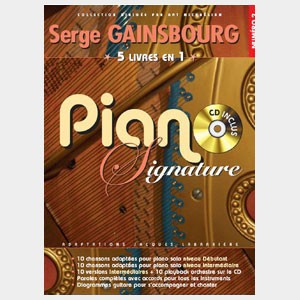 Serge Gainsbourg - Piano signature 5 recueils en 1
