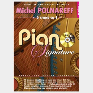 Michel Polnareff - Piano signature 5 recueils en 1
