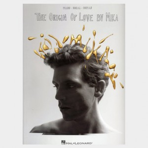 Partition piano vocal et guitare de l'album de Mika The origin of love. Partition et songbook
