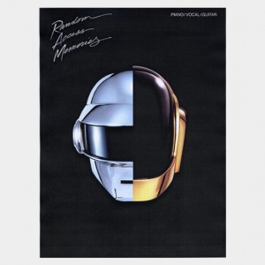 Partition piano vocal et guitare de l'album de Daft Punk Random Access Memories. Partition et songbook