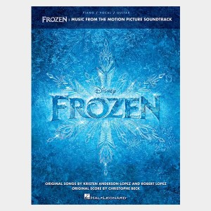 Partition piano vocal et guitare de l'album de bande original du film Frozen Disney. Partition et songbook