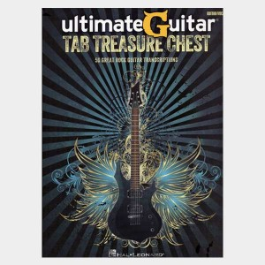 Partition et guitare Ultimate Guitar Tab Treasure chest. Tablature pour guitare et songbook