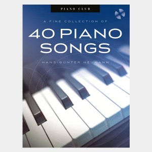 Partition piano vocal et guitare de l'album de A fine collection of 40 piano songs. Partition et songbook